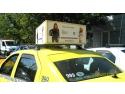 Caseta luminoasa pe taxi tip 3 D