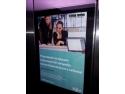lansare regus green gate. Publicitate in lifturile cladirilor de birouri