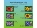 Ceasul florilor I - cele 6 mărci poştale