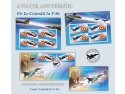produs filatelic. Istoria aviației române în universul filatelic - De la Coandă la F-16