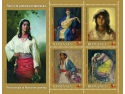 romi. Mărcile poştale ilustrează romii în pictura românească