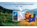 Mărcile poştale româneşti sărbătoresc aniversarea unui deceniu de la aderarea României la NATO