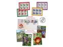 bujor. Timbrul cinsteşte frumuseţea şi gingăşia florilor din grădinile botanice româneşti