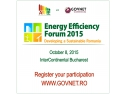 eficienta energetica. Romanian Energy Efficiency Forum 2015
