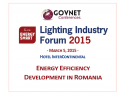 the industry. Lighting Industry Forum 2015