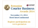 Romanian PR Award. Romanian Courier Business Awards 2014