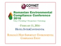 legal conference. Romanian Environmental Compliance Conference 2016