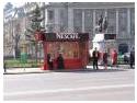 publicitate autobuz. NESCAFE transformă staţiile de autobuz în cafenele