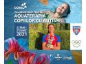 David Popovici, 16 ani, component Team România, înoată pentru copiii cu autism în cadrul Swimathon 2021