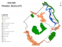 Harta traseului de biciclete de la Racari