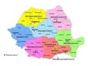 harta regiunilor de dezvoltare - Romania