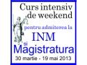 30 martie. Un nou curs intensiv de pregatire pentru MAGISTRATURA si INM. Din 30 martie!