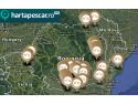 harta pescarului. Harta locurilor braconate. Sursa: www.hartapescar.ro