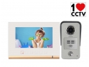 domiciliu. VIDEOINTERFON LEELEN N72B ALB CU CITITOR DE CARD