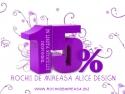 alice teodorescu. 15% REDUCERE PENTRU TOATE ROCHIILE DIN STOC
