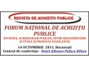 autoritati publice. FORUM NAŢIONAL DE ACHIZIŢII PUBLICE