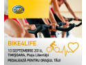 advertising bike. Bike4Life Timisoara