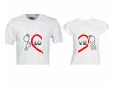 cadouri Valentine's Day. Set tricouri de cuplu