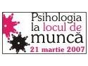 Asociatia Romana entru Excelenta in Psihologia Educatiei. Peste 100 de specialisti in HR la Psihologia la locul de munca!