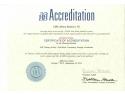 banca de celule stem. AABB Certificate