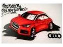iubitori de cai. Cai putere si graffiti la lansarea AudiA1 realizata de catre ICON Advertising