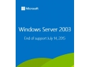 program suport. Windows Server 2003 End of Support