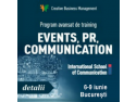 clas international school. International School of Communication sustine o noua editie a trainingului avansat de comunicare pe 6-9 iunie