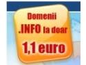 1 mai domenii. Hostway Romania lanseaza oferta pentru domenii .INFO de la 1,1 euro/an