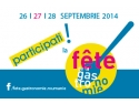 """26 septembrie. Din 26 in 28 septembrie, sa sarbatorim impreuna gastronomia la """"Fête de la Gastronomie""""!"""