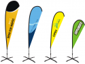 Baze pentru steaguri publicitare: Cum alegem forma potrivită electric plus