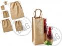 Cadouri promotionale cu stil: Sac mini iuta si sacosa pentru sticla personalizate Preferred position