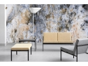 Idei de design pentru un stil nonconformist: tapet abstract saltele de pat