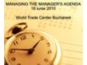 Managing the Manager's Agenda- teorie si practica in activitatea de secretariat la WTC Bucuresti