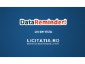 monitorizare ges. Data Reminder by Licitatia.ro