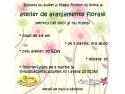 aranjamente florale. Atelier de aranjamente florale pentru cei mici si nu numai!