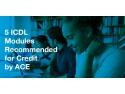 5 Module ECDL recomandate pentru credite la facultate de către Consiliul American pentru Educaţie blocuri de timbre