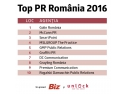 TOP PR România 2016 communications media