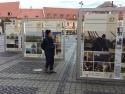 pret monument funerar. Expozitia in Piata Mare, Sibiu
