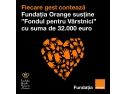 Fundatia Orange sustine comunitatea