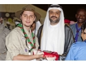 Un tanar cercetas roman face impresie in Emirate
