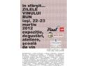 Zilele Vinul.Ro, 22-23 martie: vinurile bune ajung la Iasi