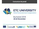 Universitatea Cooperării Teritoriale Europene 2018 SMARTRANSNATIONAL COOPERATION, București, 20-22 noiembrie 2018, Biblioteca Națională București epilare definitiva
