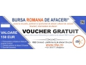 bursa romana de afaceri. Voucher Business Networking RBE Connect