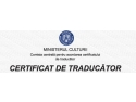 certificat de traducator. Examen de traducator - sesiune speciala