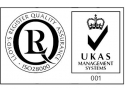 work uk. Logo LRQA ISO 28000 & Acreditare UKAS