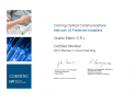 Optical Network SRL. Certificare Corning - Quartz Matrix partener autorizat