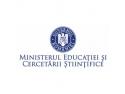 Comunicat de presă al Ministerului Educaţiei şi Cercetării Ştiinţifice
