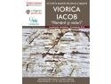"""Afisul expozitiei de pictura si tapiserie VIORICA IACOB - """"Pământ și valuri"""""""