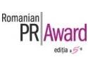 Junior PR Award. PR Award isi anunta campaniile nominalizate