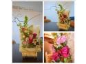 atelier de pictura pe ceramica. Aranjamente florale proaspete in fiecare companie oferite  de OLaLa atelier